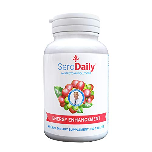 SeroDaily Daily Multivitamin - Natural Serotonin Supplement - Energy & Mood Booster - Weight Loss Vitamin - Best Men and Womens Daily Multivitamin- Made with Real 5-HT (90 Tablets)
