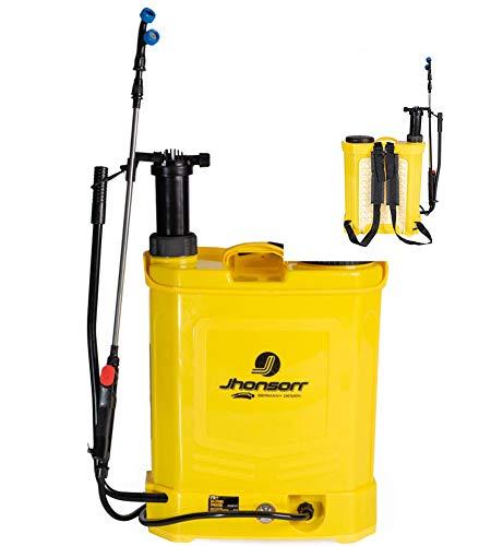 Pompa a spalla elettrica a batteria da giardino da 20 lt irroratrice nebulizzatore spruzzino doppia funzione batteria e manuale parassiti Erbacce Pompa a Zaino a Batteria Fertilizzante 20 Litri
