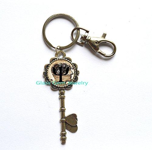 Fashion Key Keychain Psi Symbol Key Keychain Psychology Key Key Ring Glass Cabochon Key Keychain.XY38