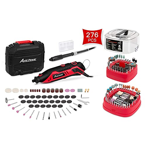 Rotary Tool Kit Variable Speed with Flex Shaft, 101pcs Accessories and Carrying Case Bundle with 276 PCS Rotary Tool Accessories Kit