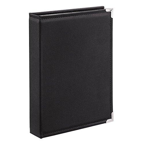 """Hama Album photo à pochettes """"New York City"""" (pour 400 photos au format 10 cm x 15cm, taille de l'album de 25 cm x 34 cm, 100 pages, en cuir, protège les photos et les documents) Noir"""