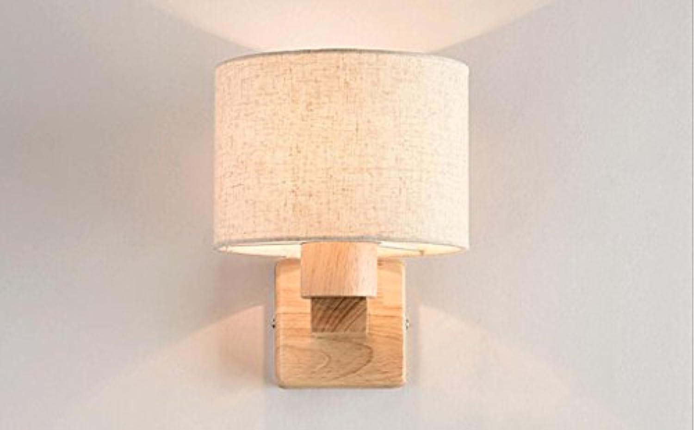 Herr Zhang Wandleuchten Einfache hlzerne Wandlampe LED Schlafzimmer Nachttischlampe Studie Wohnzimmer europischen kreative Treppe Lampe Wandbeleuchtung