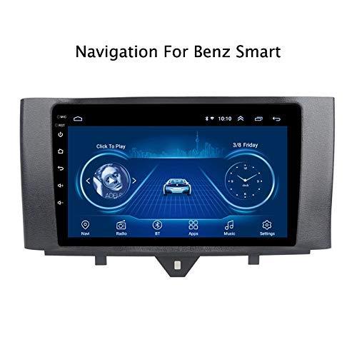 DUMXY Autoradio Android 8.1 9' Radio Coche Reproductor Mp5 MP3 Automóvil Navegación GPS para Benz Smart Fortwo 2011-2015 Apoyo Mandos de Volante Mirror Link Bad USB AUX in