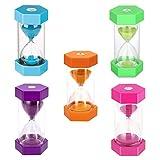 Temporizador de reloj de arena temporizador de reloj de arena de 5 colores 1/3/5/10/30 minutos temporizador de reloj de arena para aula, cocina, oficina