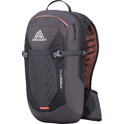 Gregory Mountain Products Amasa 14 Liter Women's Mountain Biking Hydration Backpack, Coral Black, One Size
