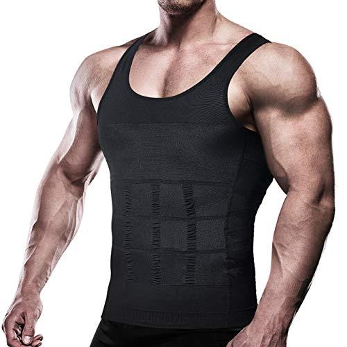 VENI MASEE Mens Schlankheits Body Shaper Weste Shirt ABS Bauch schlank