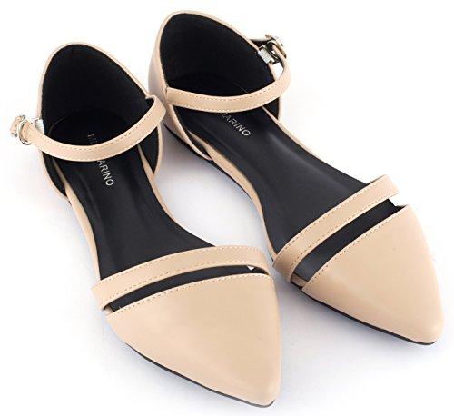Mio Marino Ballet Flats Shoes for Women - Pointed Toe Flats Dress Shoes for Women (Beige, 8)