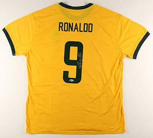 Ronaldo Autographed Signed Brazil Soccer Jersey (Beckett COA) World Cup Champion 1994 & 2002