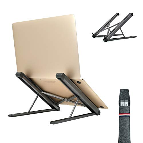 Laptop Stand,Portable Laptop Stand Adjustable,Foldable Ergonomic Notebook Stand,Aluminum Ventilated Computer Stand Universal PC Holder Lightweight for Macbook, Dell, HP, Samsung, Lenovo
