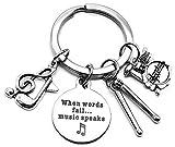 Drum Keychain, Percussion Drumsticks Keychain, Drummer Gift, Snare Drum Keychain, Music Keychain, Music Note Keychain, Musical Instrument Keychain, Musician Gift, Percussionist Gift, Drummer Key Ring