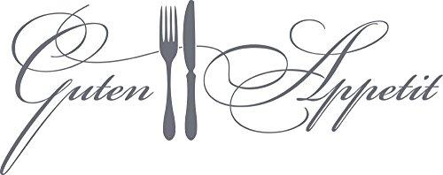 GRAZDesign Wandtattoo Küche Guten Appetit mit Besteck Küchen-Aufkleber für Wände, Schränke, Fliesen, Möbel für Restaurant und Bars (101x40cm//071 grau)
