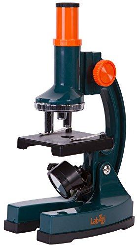 Levenhuk Microscopio per Ragazzi LabZZ M2 con Vetrini Preparati, Vetrini Vuoti, Coprivetrini, Adesivi per Vetrini, Boccetta con Scimmie di Mare e Incubatrice