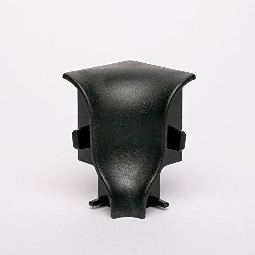Innen- und Außenecken, Verbinder und Abschlüsse für Sockelleisten 40mm (Innenecke, Schwarz)