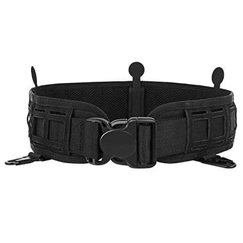 AIRSSON Heavy Duty Utility Belt Adjustable Tactical Padded Patrol Molle Battle Outer Belt,1000D Nylon Can Put Inner Belt for Men Military Police Law Enforcement Officers Shooting Paintball EDC Using
