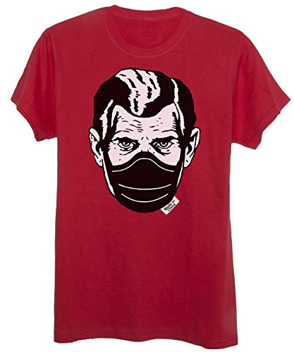 New Indastria T-Shirt Grande Fratello 1984 Mascherina Meme Coronavirus - Bambino-XL-Rossa