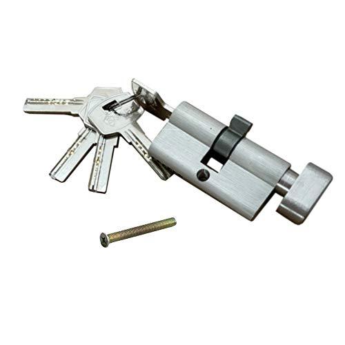 60mm (30/30) Tür Knaufzylinder, Knauf-Zylinderschloss, Schliesszylinder, Türschloss, Einbauschloss mit Knauf inkl. 5 Schlüsseln