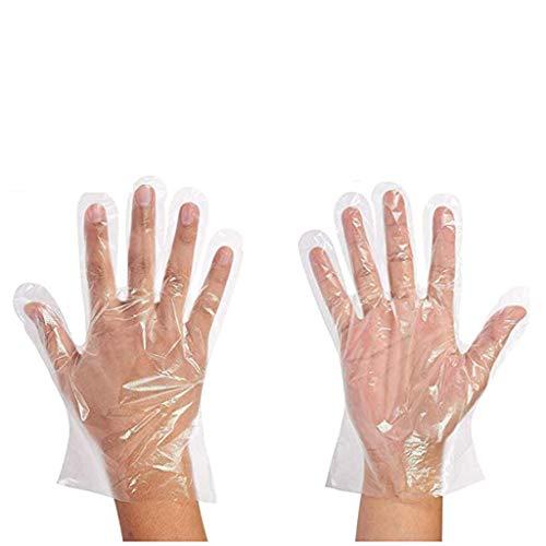 Hniunew Einweg Handschuhe Küche Transparent klar Mehrfach Kunststoffhandschuhe Plastikhandschuhe Einmalhandschuhe Kinder Erwachsene disposible Gloves für Restaurant Kochen