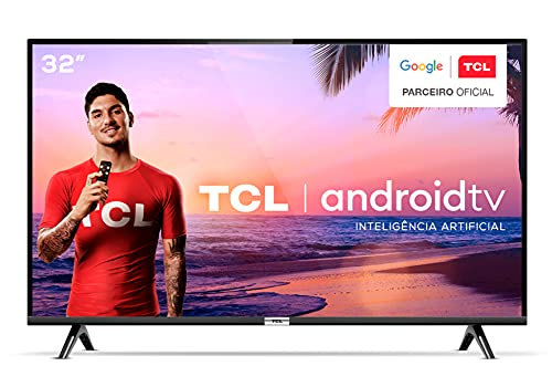 """Smart TV LED 32"""" TCL 32S6500 Android Wi-Fi HDR - Inteligência Artificial Conversor Digital 2 HDMI"""