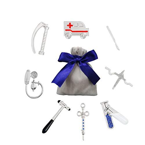 YUMU CASA 8 PCS Broche Creativo Pin Diseño de Equipo Médico Forma para Bolsas Ropa Mochilas Mejor Regalo para Médico Enfermera