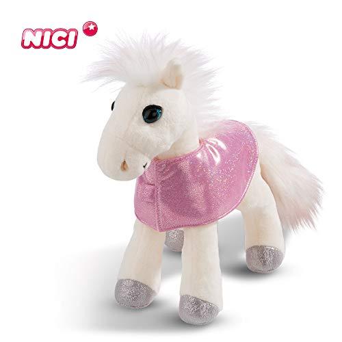 NICI knuffeldier paard White Peach 35 cm – pluche dier paard voor meisjes, jongens en baby's – pluizig knuffeldier om te knuffelen, spelen en slapen – gezellige knuffeldier voor elke leeftijd – 44899