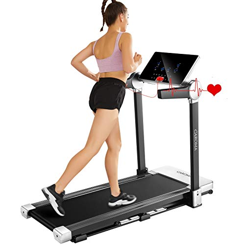 CAROMA Treadmill,3.0HP Folding Treadmills for Home, Under Desk Electric Treadmill Workout Running Machine Portable Compact Treadmill with Large Display,12 Pre-Set Programs,Max Speed 7.5MPH