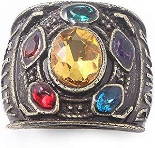 N-BOOMOR Thanos Infinite Power Soul Stone Magnet Bracelets Infinity War Key Chain Rings For Men Women