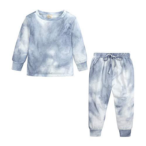 unknow YYXDP Zweiteiliges Pyjama-Set Mit Tie-Dye-Druck FüR Kinder, Langarmhose FüR...