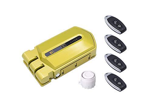 Cerradura Invisible con alarma Golden Shield Alarma 120db 4 mandos incopiables