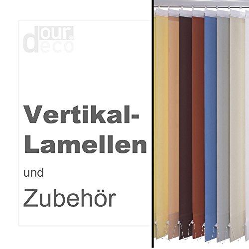 ourdeco® compleet verticaal systeem/breedte: 100 cm/hoogte: 180 cm/lamellenbreedte 127 mm/in de hoogte in te korten/plafond- of wandmontage/Made in Germany