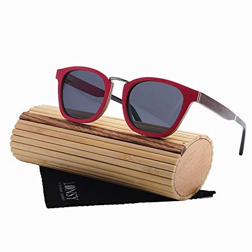 Zonnebril UV400, polarisatiefilters Wood zonnebrillen, blokkeren Glare Bril, als geschenk for vrienden en familieleden Festivals en Reizen, Sport en buitenactiviteiten (Color : Skateboard)