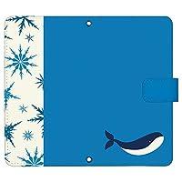 iPhone 12 ケース [デザイン:2.クジラ/マグネットハンドあり] Winter animals アイフォン12 iPhone12 ip12 手帳型 スマホケース スマホカバー 手帳 携帯 カバー