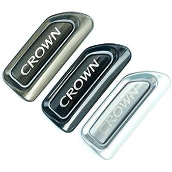 トヨタ クラウン 210系 アームレスト サイドパネル インテリアパネル内装品 左右セット ブラック/シルバー/青銅色 3色選択可能 (ブラック) [並行輸入品]