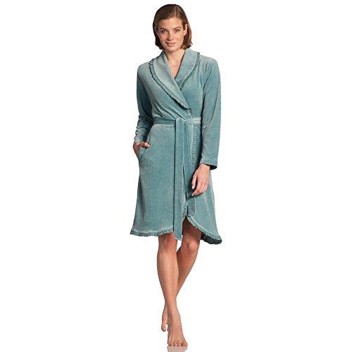 Vossen 141624-438 Women's Ariel Cosmos Grey Dressing Gown Loungewear Bath Robe Robe Small