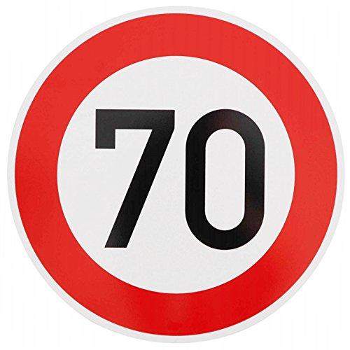 ORIGINAL Verkehrzeichen 70 KM/H Schild Nr. 274-57 Verkehrsschild Straßenschild Straßenzeichen Metall auch Gebutrtstagschild zum 70. Geburtstag als 70km Geburtstagsschild 42 cm Metall mit Folie-Typ1
