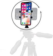 product image for Thought Out PED5-H Tripod Mount Made in USA Compatible with Apple iPhone 12, Max, Mini, Pro, All 11, Pro, Max, All X Models, 8, 7, SE, All Plus Sizes, Cell Phones Width from 2.3 to 3.5 inches
