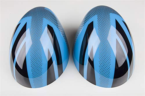 HDX Union Jack JCW Side Mirror Cover Trim Cap ABS for Mini Cooper R55 Clubman R56 Hatchback R57 Covertible R58 Coupe R59 Roadster R60 Countryman R61 Paceman (Auto Power Folding Mirror, UK Blue)