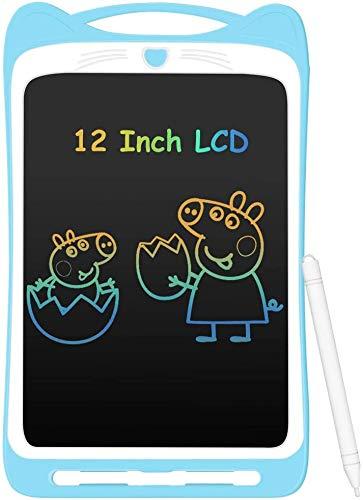HFHC 12Inch Kleurrijke LCD Schrijven Tablet voor Kinderen, Draagbare Elektronische schrijfbord tekenbord met Lock Switch voor kinderen thuis school, Blauw