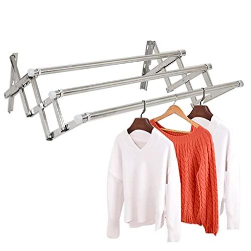 DFBGL Tendedero montado en la Pared, tendedero para secar Ropa, retráctil, Plegable, tendedero, toallero, ahorrador de Espacio, secador de Ropa, línea de paños para el hogar