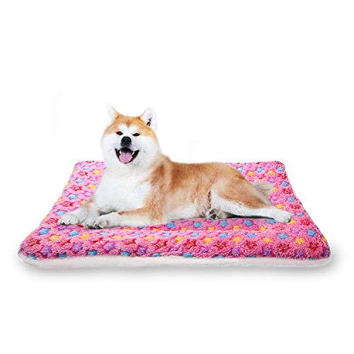 YUHUAWYH Hundedecke Hundebett Flauschig Softe und Warme Katzen Matte Waschmaschinenfest Katzenschlafplatz Korallensamt für Sofa und Couch (100x70cm, Pink)