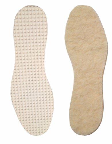 THE WALKING PAD - Plantilla 100% lana de oveja natural, talla 35 a 46 recortable. Te mantiene los pies calientes.