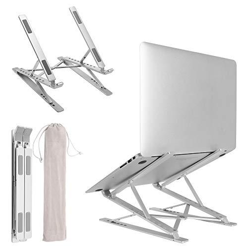 ノートパソコンスタンド 2段式 6+9段高さ·角度調整可能 タブレットスタンド 猫背・肩凝りを予防 ノートパソ...