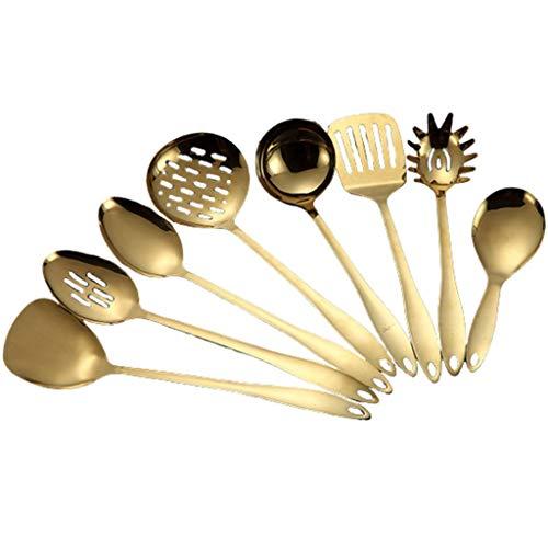 WZHZJ Cocina de Acero Inoxidable Herramientas de Cocina Shovel Shovel Utensilios de Cocina Herramientas de Cocina Spatula Ladle Utensilios de Cocina