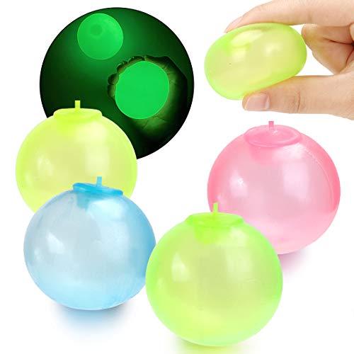 Boules Collantes Jeux,8PCS Boule de Stress, Balle Anti Stress Enfant,Balles Fluorescentes Stickytarget,Globbles Collants, Balles De Jouets De Décompression pour Enfants,Exercice de Force des Doigts