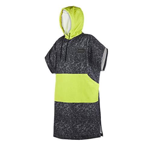 Mystic Allover Poncho oder Wickeltuch für Strandwassersport & Surfen - Change Robe Lime - Unisex