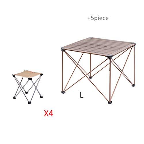 Pique-nique de camping en plein air avec plateau de support de table en aluminium pliable (Taille : J)