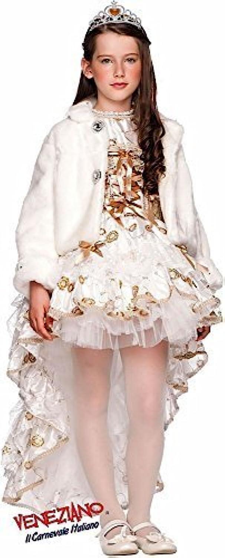 Fancy Me Italian Made Baby &ltere Mdchen Deluxe Weihnachten wei Winter festlich Karneval Halloween Burleske Kostüm Kleid Outfit 0-10 Jahre - Wei, 7 Years