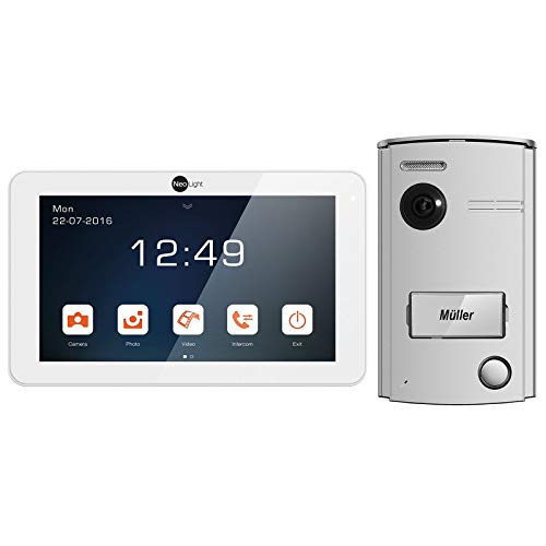 NeoLight Video-Türsprechanlage Porta 7 ✓ Touchscreen 7 Zoll Monitor ✓ HD-Display ✓ 2-Draht-Technik ✓ 120° Weitwinkel-Türstation