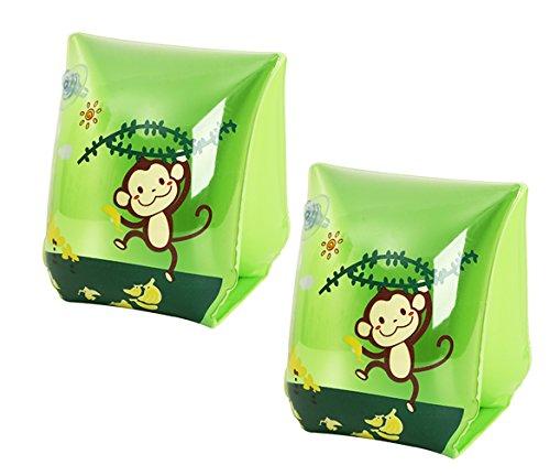 Y-BOA Brassard Gonflable Bracelet Natation Piscine Enfant Bébé Jeux d'Eau Plage Swim Arm Bands Vert