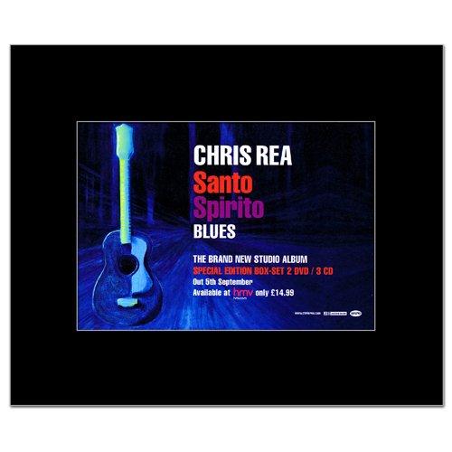 CHRIS REA - Santo Spirito Blues Matted Mini Poster - 21x13.5cm