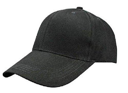 【セット】帽子 コットンキャップ 大きいサイズ 62�p 63�p 64�p 65�p 66�p 黒 ブラック/SA93 (XXL(約62〜66cm))